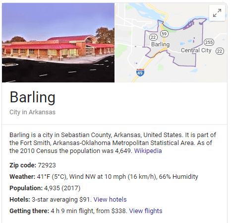 Barling AR Service Area