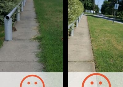 Before and After Grass Edging